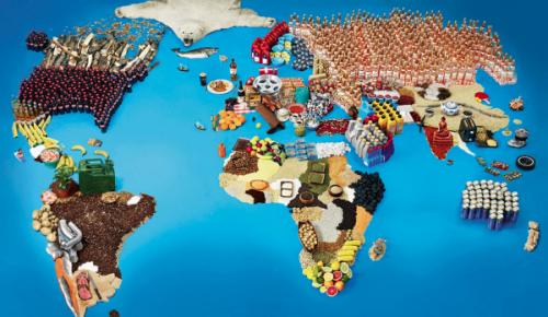 Carte du monde des spécialités locales par pays.