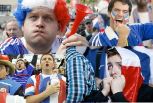 Supporter de football de l'équipe de France